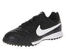 Nike Kids Jr Tiempo Genio Leather TF (Toddler/Little Kid/Big Kid) (Black/Black/White Multi Snake)