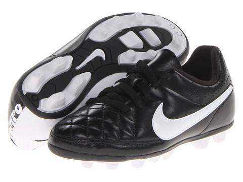 Nike Kids - Jr Tiempo Rio II FG-R Soccer (Toddler/Little Kid/Big Kid) (Black/Black/White Multi Snake) Kids Shoes
