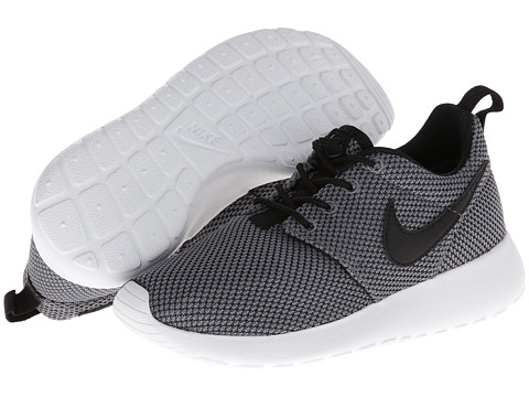 Nike Kids - Roshe Run (Little Kid/Big Kid) (Cool Grey/White/Cool Grey/Black) Kids Shoes