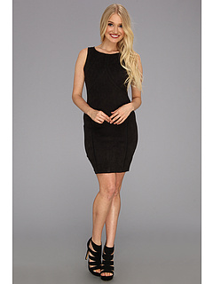 SALE! $66.99 - Save $101 on Sanctuary Vegan Suede Dress (Black) Apparel - 60.13% OFF $168.00