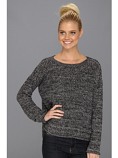 SALE! $34.99 - Save $63 on Sanctuary Marled Easy Sweater (Black) Apparel - 64.30% OFF $98.00
