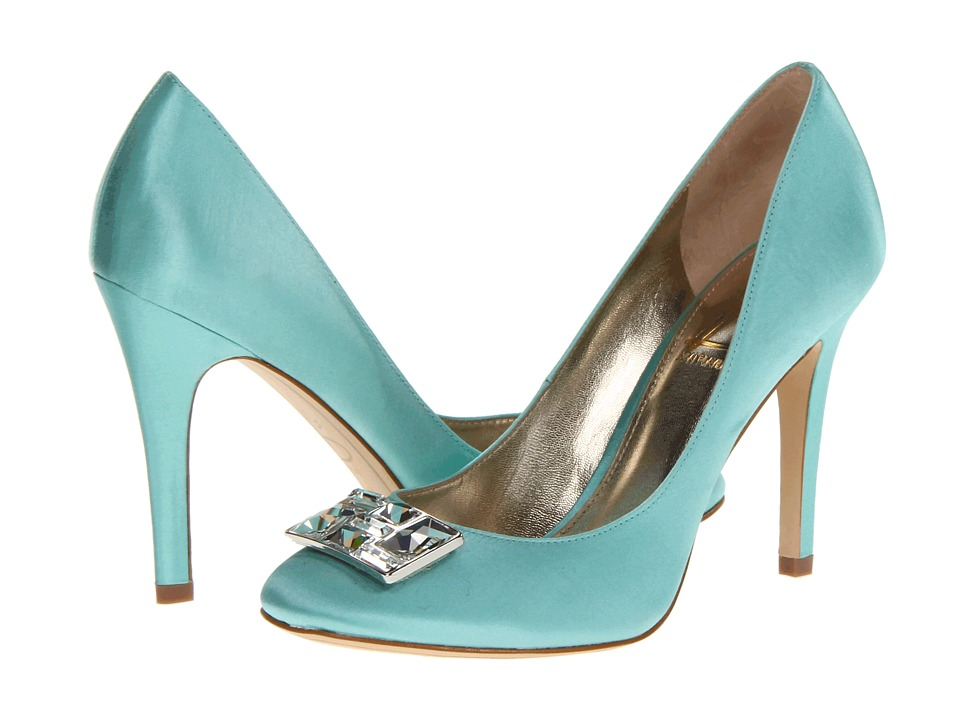 Joan & David - Fanceen (Light Blue Satin) High Heels