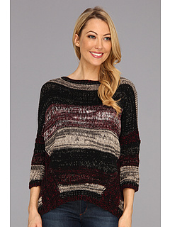SALE! $54.67 - Save $25 on DKNY Jeans Boatneck Boxy Tee Pullover Sweater (Burgundy) Apparel - 31.23% OFF $79.50