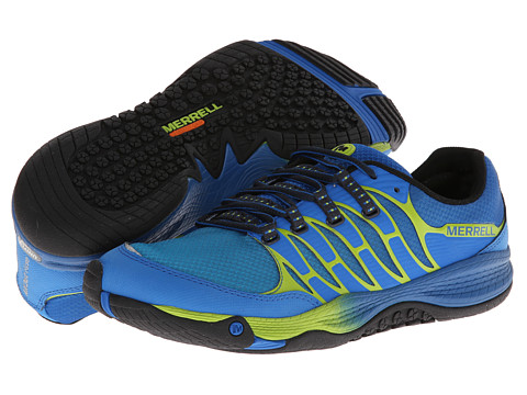 Merrell - Allout Fuse (Blue/Lime) Men's Shoes