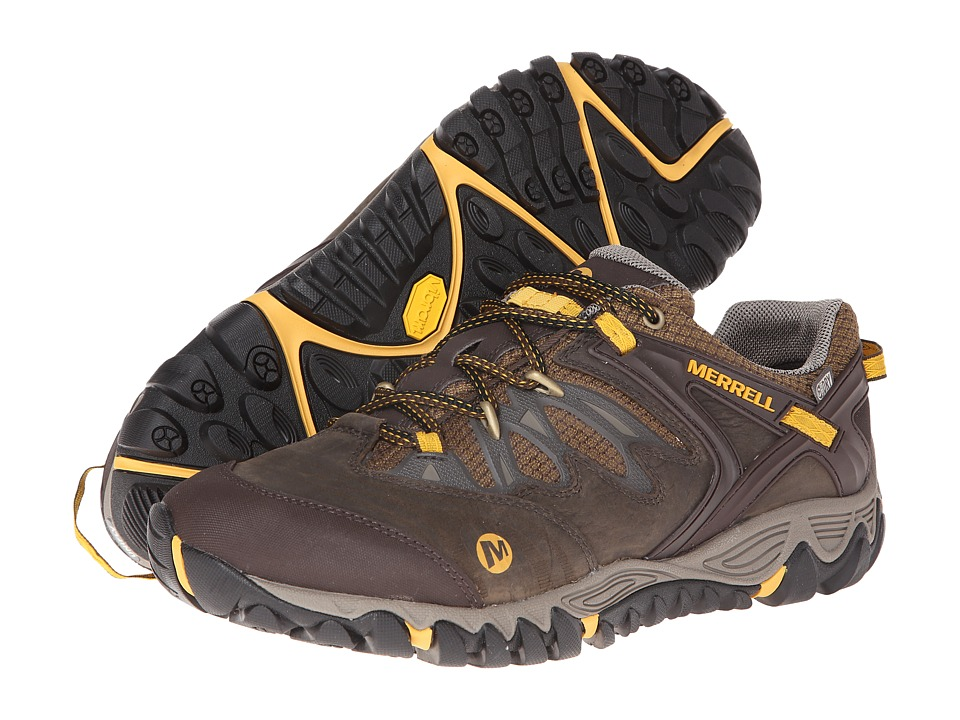 Merrell - Allout Blaze Waterproof (Black Slate/Yellow) Men's Shoes