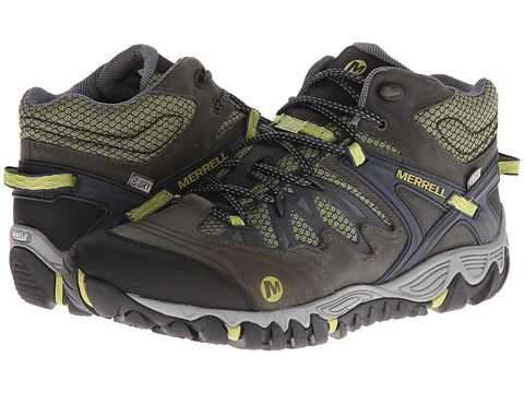 UPC 018465412610 product image for Merrell Allout Blaze Mid Waterproof  (Navy Moss) Men s ... 3f78cecb26