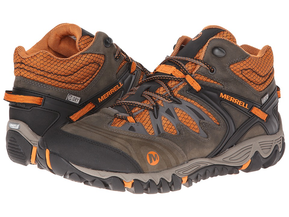 Merrell - Allout Blaze Mid Waterproof (Boulder/Tanga) Men