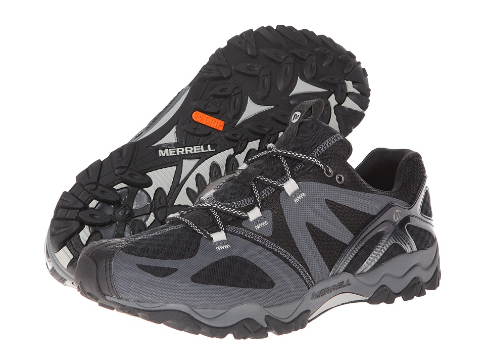 Merrell - Grassbow Air (Black/Silver) Men's Shoes