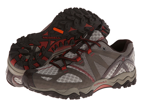 Merrell - Grassbow Air (Dark Taupe/Red) Men's Shoes