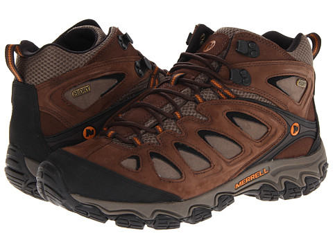 Merrell - Pulsate Mid Waterproof (Black/Bracken) Men's Hiking Boots