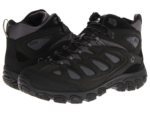 Merrell - Pulsate Mid Waterproof (Black/Castle Rock) Men's Hiking Boots