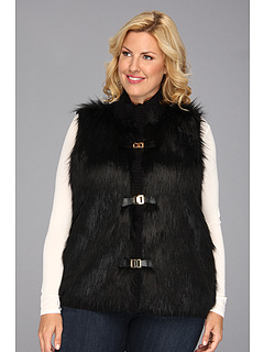 SALE! $111.99 - Save $58 on Calvin Klein Plus Size Faux Fur Sweater Vest Acrylic (Black) Apparel - 33.93% OFF $169.50