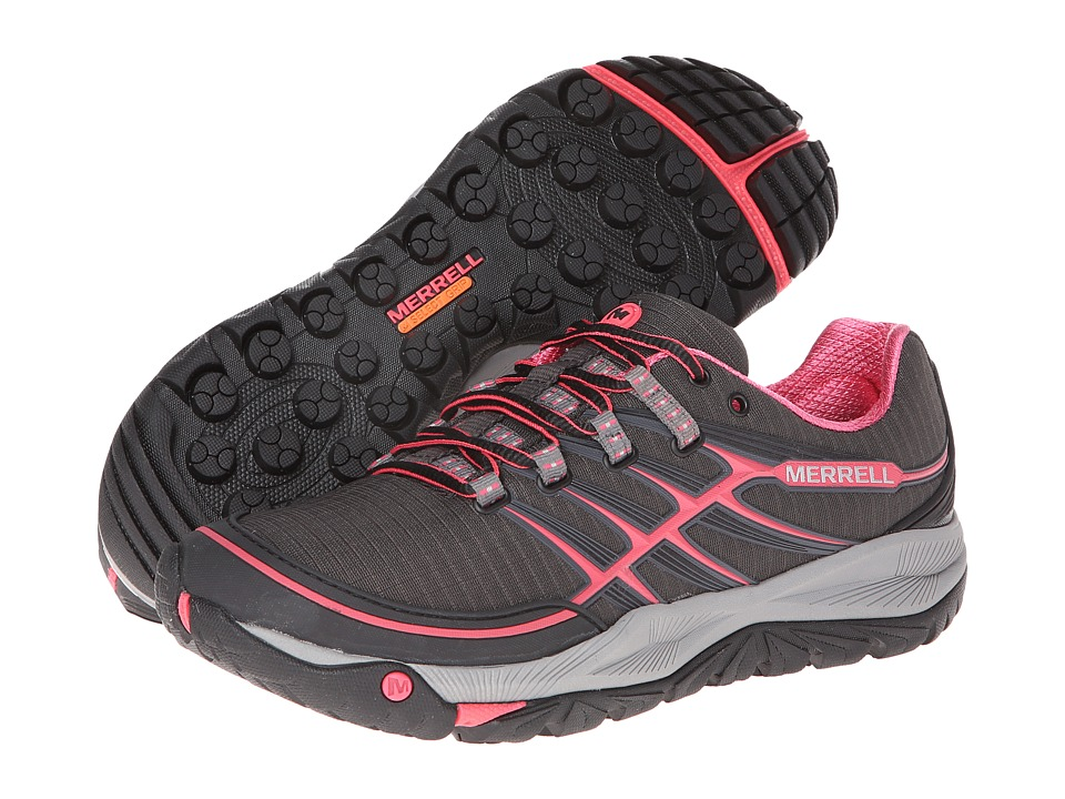 Merrell - Allout Rush (Black/Paradise Pink) Women's Shoes