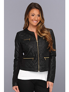 SALE! $89.99 - Save $70 on Calvin Klein Quilted Zip Faux Leather Jacket (Black) Apparel - 43.58% OFF $159.50