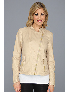 SALE! $89.99 - Save $70 on Calvin Klein Moto Faux Leather Jacket (Tan) Apparel - 43.58% OFF $159.50
