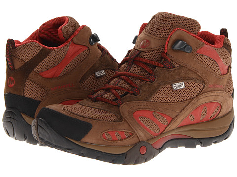 Merrell - Azura Mid Waterproof (Dark Earth/Red) Women