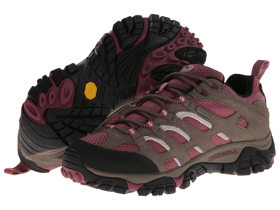 Merrell - Moab Waterproof (Boulder/Blush) Women's Lace up casual Shoes