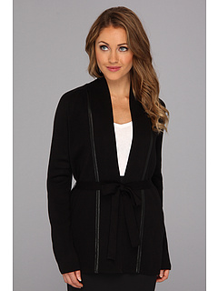 SALE! $71.99 - Save $58 on Calvin Klein L S Belted Cardigan (Black) Apparel - 44.41% OFF $129.50