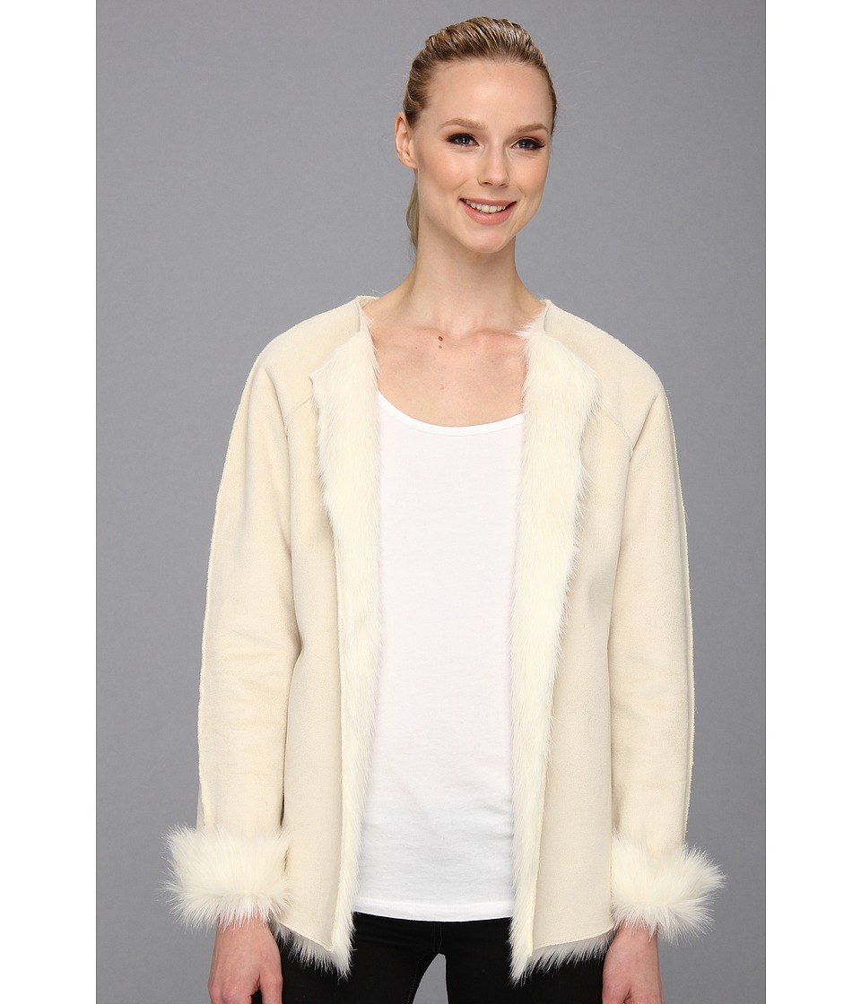 Calvin Klein - Toscana Faux Fur Jacket (Birch) Women