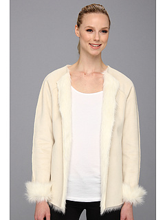 SALE! $126.99 - Save $102 on Calvin Klein Toscana Faux Fur Jacket (Birch) Apparel - 44.55% OFF $229.00