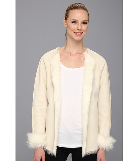 Calvin Klein - Toscana Faux Fur Jacket (Birch) Women's Jacket