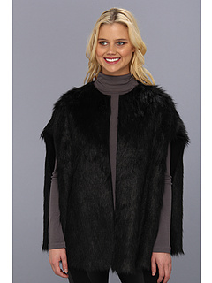 SALE! $109.99 - Save $90 on Calvin Klein Toscana Faux Fur Cape (Black) Apparel - 44.87% OFF $199.50