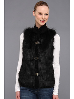 SALE! $79.99 - Save $80 on Calvin Klein Faux Fur Acrylic Sweater Vest (Black) Apparel - 49.85% OFF $159.50