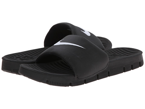 Nike Kids - Benassi Flex Motion Slide (Little Kid/Big Kid) (Black/Black/White Multi Snake) Boys Shoes