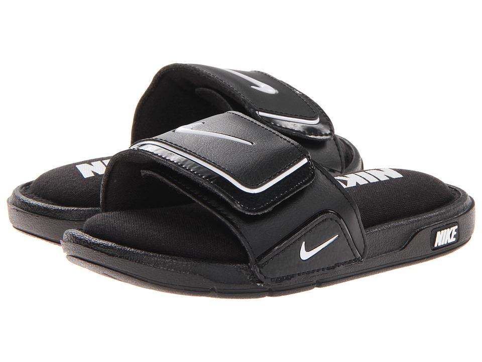 Nike Kids Comfort Slide 2 (Little Kid/Big Kid) (Black/White) Kids Shoes