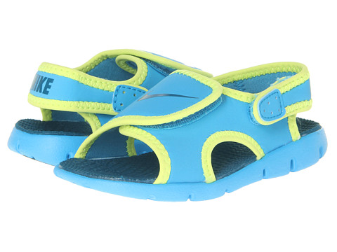 Nike Kids - Sunray Adjust 4 (Infant/Toddler) (Vivid Blue/Volt/Green Abyss) Kids Shoes