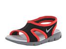 Nike Kids Sunray 9 (Infant/Toddler) (Black/Light Crimson/Wolf Grey)
