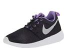 Nike Kids Roshe Run (Little Kid/Big Kid) (Black/Atomic Violet/White/Metallic Silver)