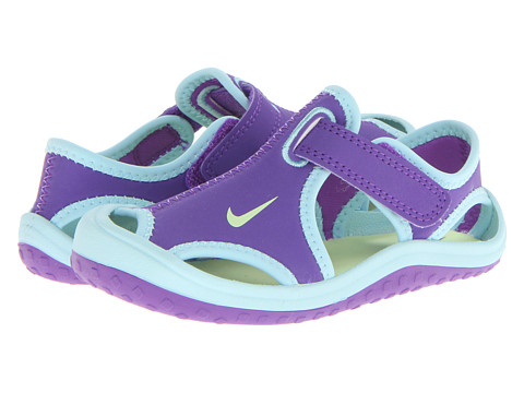 Nike Kids - Sunray Protect (Infant/Toddler) (Purple Venom/Glacier Ice/White/Volt Ice) Girls Shoes