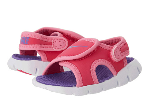 Nike Kids - Sunray Adjust 4 (Infant/Toddler) (Pink Glow/Vivid Pink/White/Purple Venom) Girls Shoes