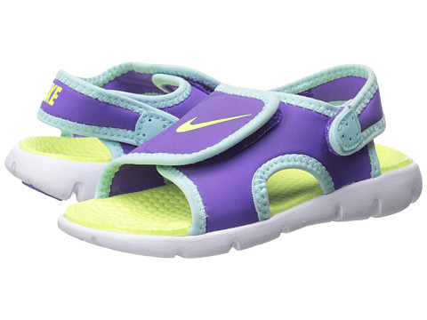Nike Kids - Sunray Adjust 4 (Infant/Toddler) (Purple Venom/Glacier Ice/White/Volt Ice) Girls Shoes