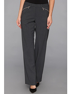 SALE! $51.99 - Save $28 on Calvin Klein Madison Pant Luxe Stretch w Zipper (Charcoal) Apparel - 34.60% OFF $79.50