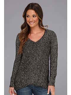 SALE! $49.99 - Save $40 on Calvin Klein Mixed Stitch Marled Weave Sweater (Black Birch) Apparel - 44.15% OFF $89.50