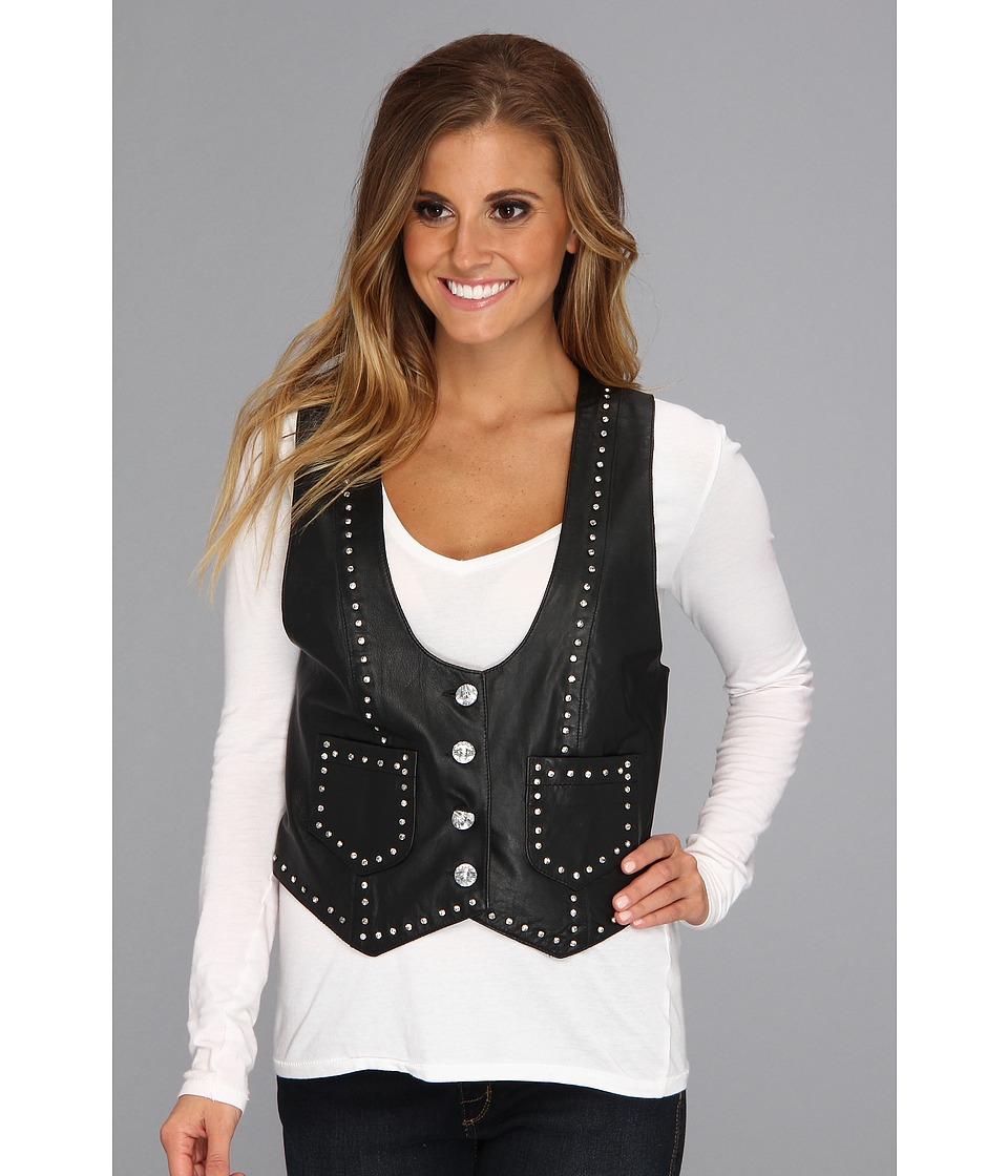Scully - Midnight Sparkle Lamb Vest (Black) Women's Vest