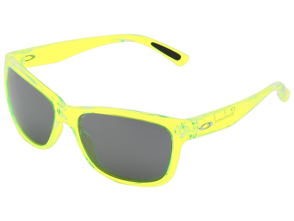Oakley - Forehand (Neon Yellow w/ Black Iridium) Sport Sunglasses