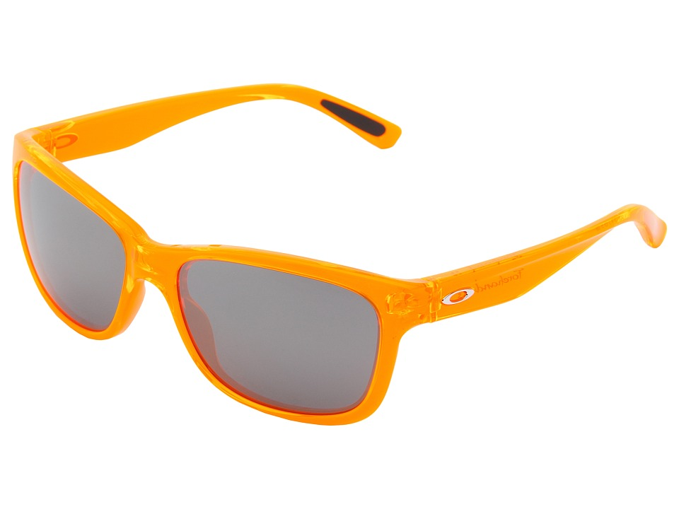 Oakley - Forehand (Neon Orange w/ Black Iridium) Sport Sunglasses