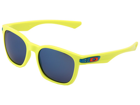Oakley - Garage Rock (Neon Yellow w/ Ice Iridium) Plastic Frame Sport Sunglasses