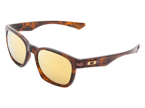 Oakley - Garage Rock Polarized (Brown Tort w/ 24k Gold Polarized) Plastic Frame Sport Sunglasses