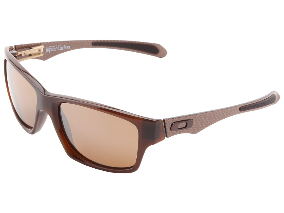 Oakley - Jupiter Carbon (Dark Ale w/ Tungsten Iridium) Plastic Frame Sport Sunglasses