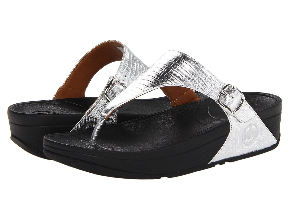 FitFlop - The Skinnytm (Silver) Women's Clog/Mule Shoes