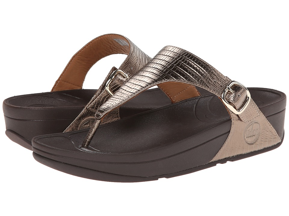 FitFlop - The Skinny (Bronze) Women's Clog/Mule Shoes