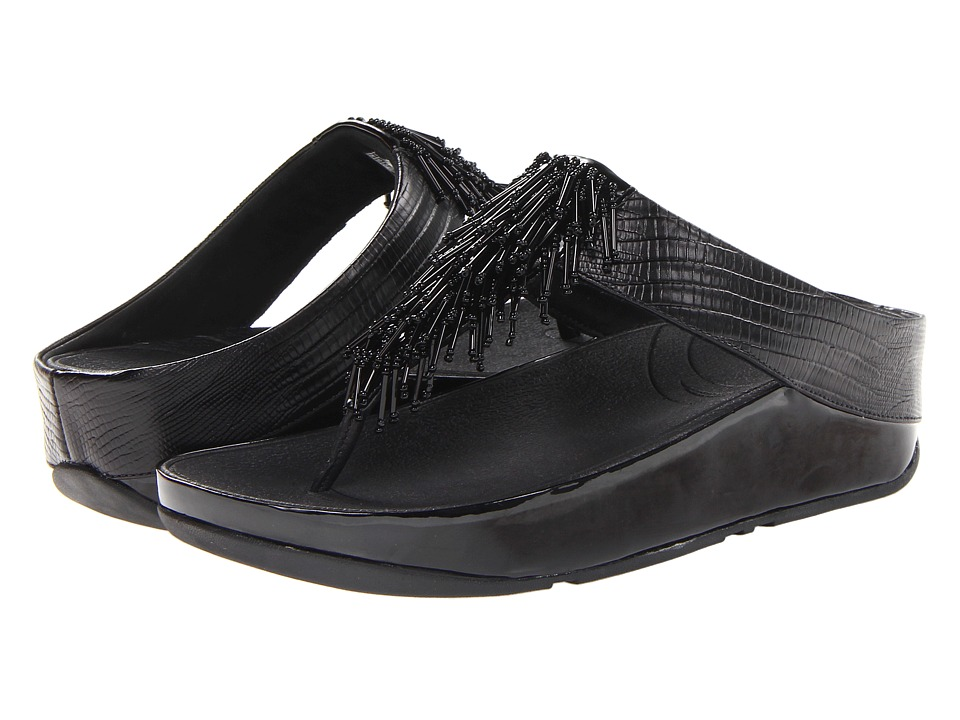 FitFlop - Cha Chatm (Black) Women's Slide Shoes