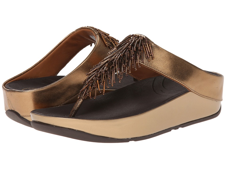 FitFlop - Cha Chatm (Bronze) Women's Slide Shoes