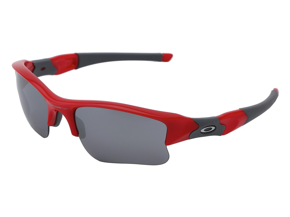 Oakley - Flak Jacket XLJ (Infrared w/ Black Iridium) Sport Sunglasses