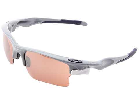 Oakley - Fast Jacket XL (Polished Fog w/ VR28 Black Iridium and Grey) Polarized Sport Sunglasses