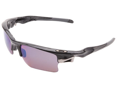 Oakley - Fast Jacket (Black Plaid w/ G30 Polarized) Plastic Frame Sport Sunglasses